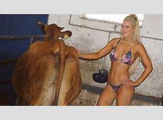 WWE Lana pulling cow milk in Bikini YouTube