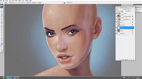 how to paint in photoshop skin