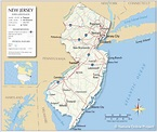 Map of the State of New Jersey, USA - Nations Online Project