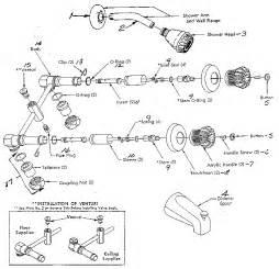 kitchen faucet diverter valve repair sears tub shower faucet parts model 60920808 sears