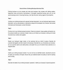 clothing store business plan template viplinkekinfo With boutique hotel business plan template