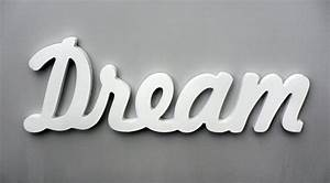 wooden inspirational wall word dream wall decor wooden With dream wall letters