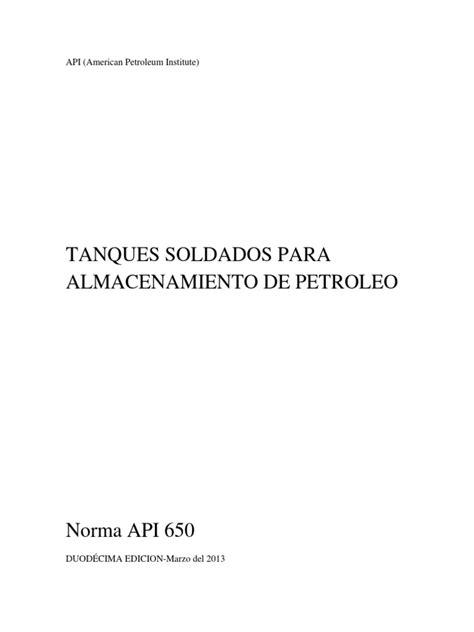 Resumen Norma API 650 | Welding | Tanks