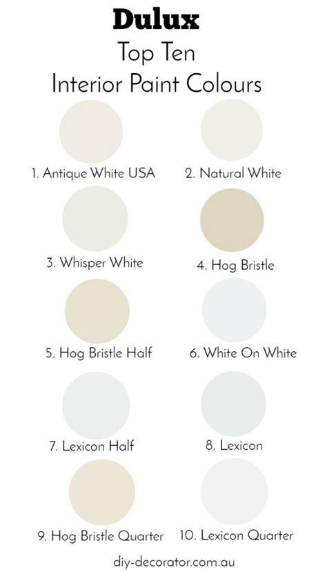 dulux top 10 paint colours paint colours