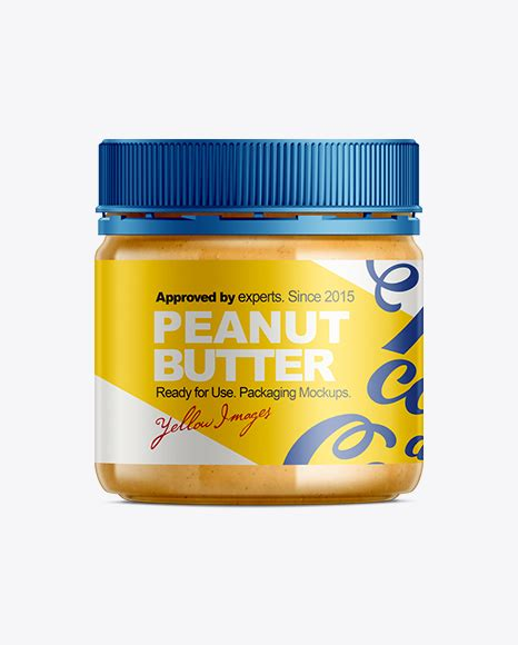 1 month free trial download. Peanut Butter Mockup in Jar Mockups on Yellow Images ...