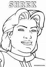 Shrek Coloring Pages Charming Prince Cartoon Colorings sketch template
