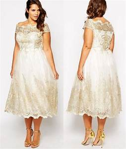 7 gorgeous short plus size summer wedding dresses for Plus size off the shoulder wedding dress