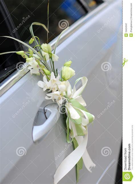 wedding car flowers royalty  stock photography image