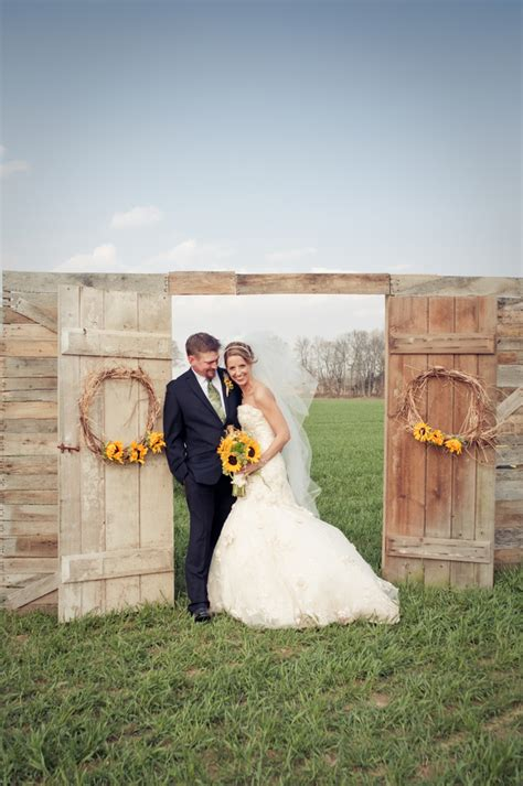sunflower theme wedding rustic wedding chic