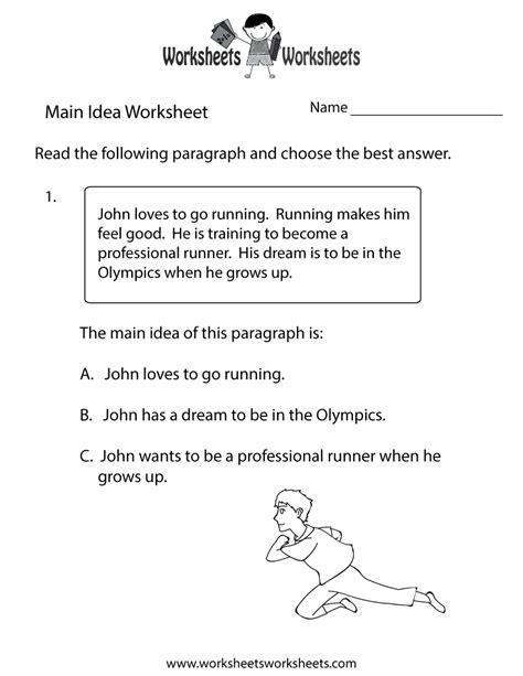 main idea practice worksheet worksheets worksheets