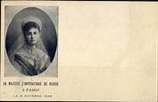 Postcard Zarin Alexandra Fjodorowna von Russland, Alix ...