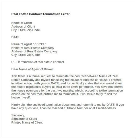 contract termination letter 20 contract termination letter templates pdf doc