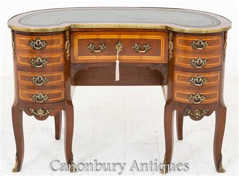 bureau writing desk kidney bean desk writing bureau in mahogany