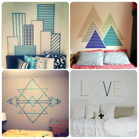 Decorating Walls With Washi Tape Becoration