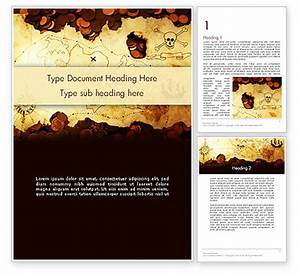 Pirate Treasure Map PowerPoint Template, Backgrounds ...