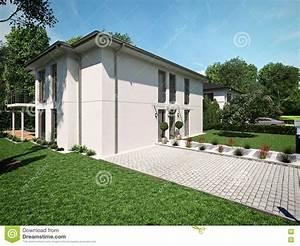 Belle Maison Moderne : belle maison moderne rendu 3d photo stock image du vide personne 72184974 ~ Melissatoandfro.com Idées de Décoration