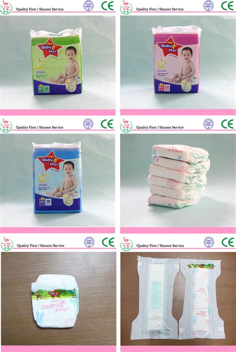 Baby Star Disposable Baby Diaper Pe Flim Baby Nappies