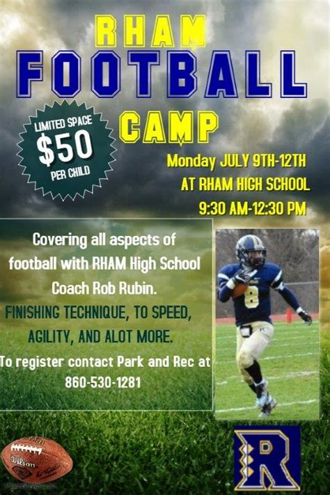 copy  football training camp flyer template