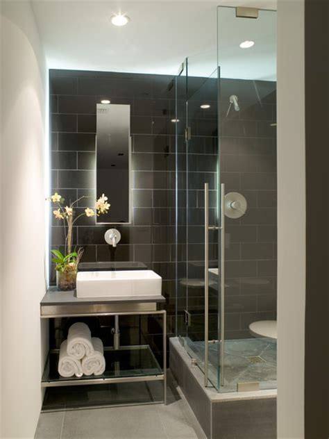 dramatic tile modern bathrooms lonny