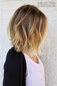 Ombré Hair Chatain : coiffure carre ombre ~ Dallasstarsshop.com Idées de Décoration