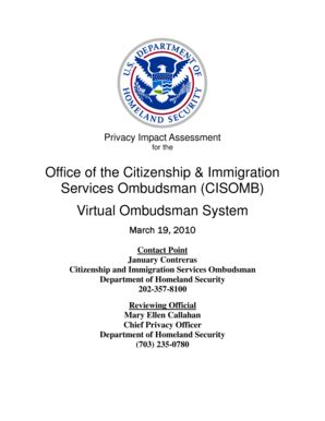 fillable dhs department of homeland security privacy impact assessment citizenship and
