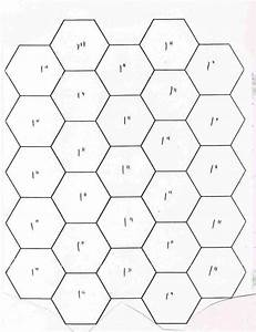 Hexagon quilt template free printable templatezet for Hexagon templates for quilting free