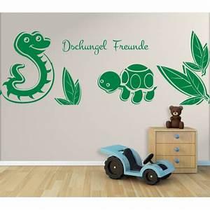 Wandtattoo Kinderzimmer Dschungel : wandtattoo kinderzimmer dschungel freunde schildkr te und schlange im regenwald ~ Orissabook.com Haus und Dekorationen