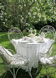 Table Fer Forgé Jardin : table fer forge blanc maison design ~ Teatrodelosmanantiales.com Idées de Décoration