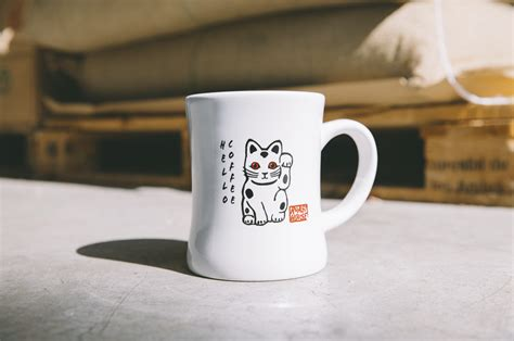 Microwave safe and dishwasher safe.ships in a full color gift box. Kitty Mug - Roast House Coffee