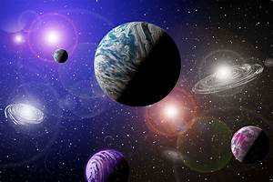 Peel and stick photo wall mural Galaxy planets space photo ...