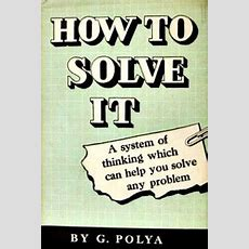 How To Solve It Wikipedia