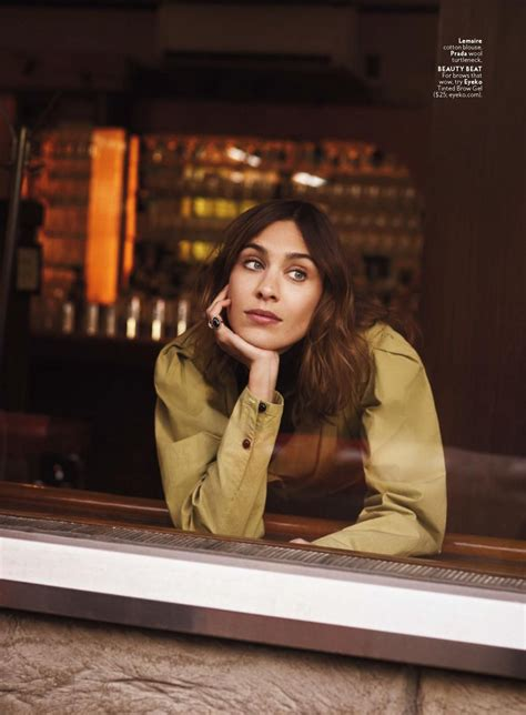 alexa chung instyle usa april  issue
