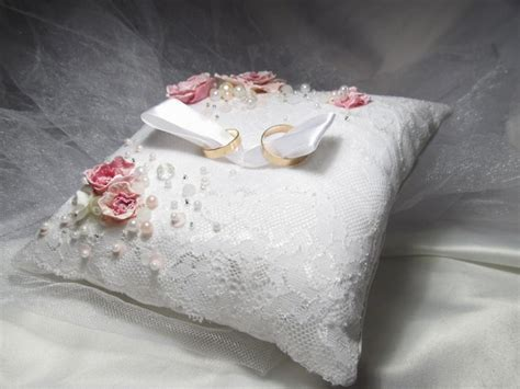 ring bearer pillow lace wedding ring bearer pillow white
