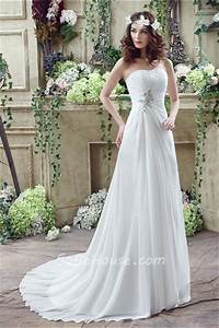 a line strapless corset back chiffon draped destination With garden wedding dresses