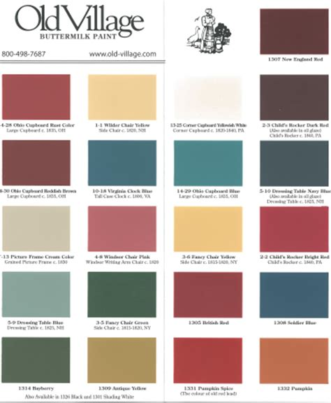 Milk Paint Color Chart  Handy Home Design
