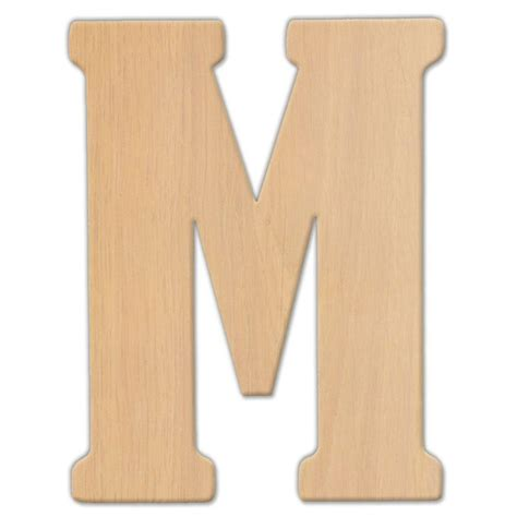 26 letters black walnut wooden alphabet wedding home wall decoration kid toy diy. Jeff McWilliams Designs 23 in. Oversized Unfinished Wood Letter (M)-300342 - The Home Depot