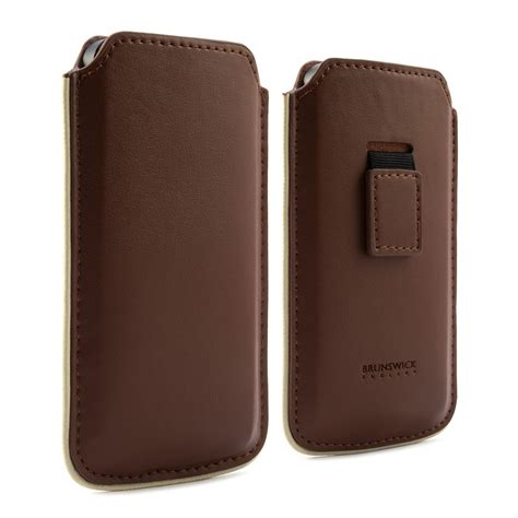 leather iphone brown brunswick leather iphone 5s 5c pouch