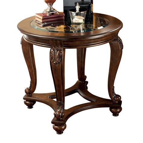 ashley furniture round table signature design by ashley t499 6 norcastle round end