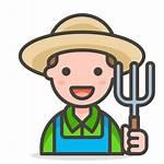Farmer Icon Cartoon Icons Vector Svg Emoji