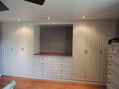 Wall Wardrobe Closet by Custom White Wall Unit In A Master Bedroom Home Sweet