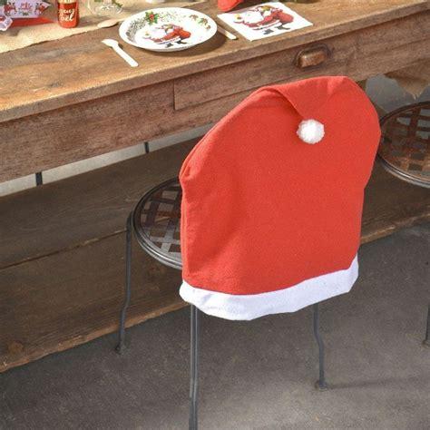 housse de chaise noel housse de chaise de noêl en forme de bonnet du père noël