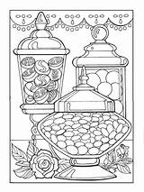 Coloring Pages Dessert Colouring Adult Sheets Creative Desserts Candy Haven Mandala Books Designer Printable Faerglaeggningssidor Hard Malarboecker Adults Dover Publications sketch template