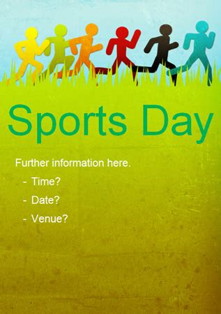 Sports Day Poster Template Sports Day Run Poster Free Early Years Primary