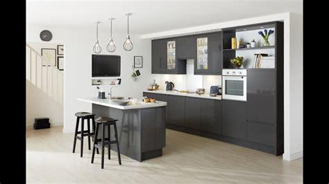 clerkenwell gloss graphite contemporary kitchen youtube