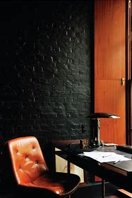 Black Brick Wall Interior