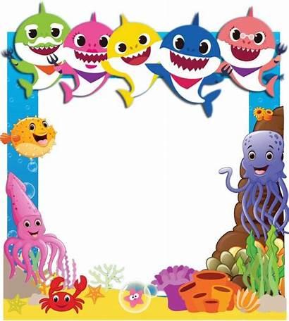 Shark Birthday Invitation Party Frame Decorations 1st