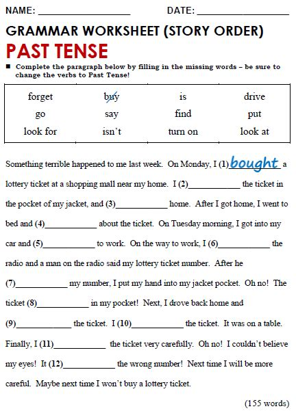 all worksheets 187 simple past present future tense