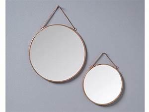 Miroir Rond à Suspendre : miroir rond suspendre m tal dor d17cm et d23cm lot de ~ Teatrodelosmanantiales.com Idées de Décoration