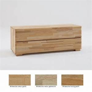 Lowboard Eiche Massiv : lowboard blenio 3 120x46x45cm eiche massiv farbe nach wahl schubkasten wohnbereiche schlafzimmer ~ Markanthonyermac.com Haus und Dekorationen