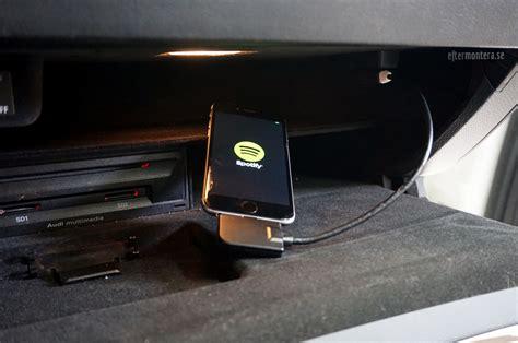 audi aux ami ipod iphone adp bluetooth eftermontering